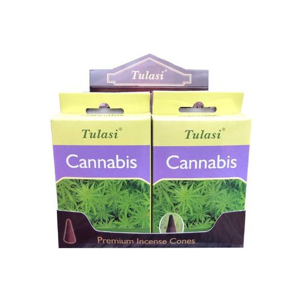 Tulasi Cannabis Weihrauchkegel.