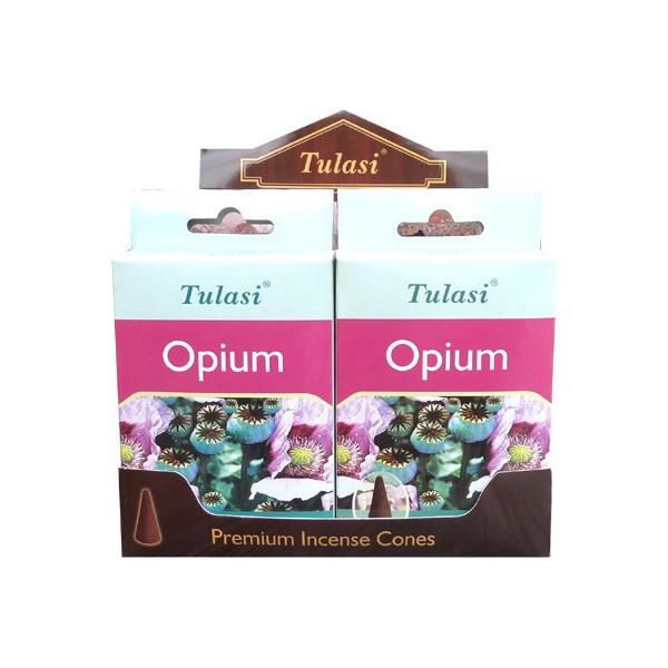 Cônes d'encens Tulasi opium.