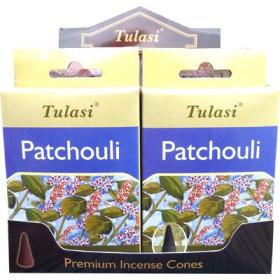 Cônes d'encens Tulasi patchouli.