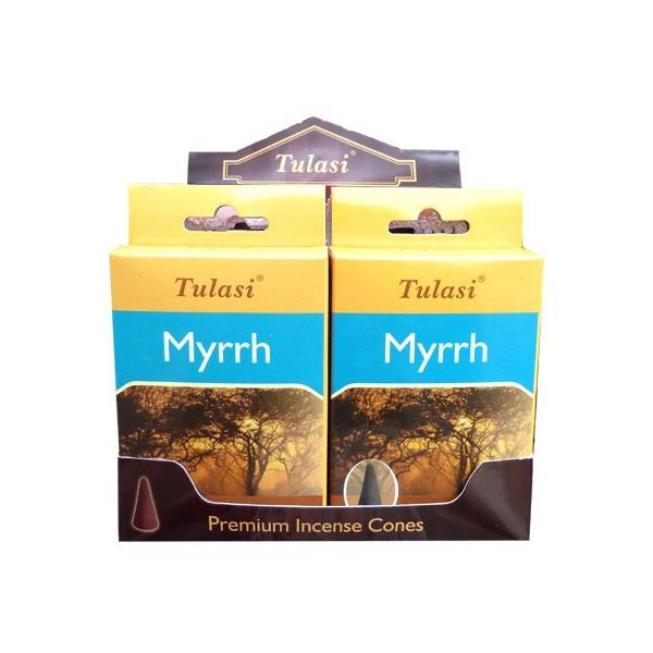 Cônes d'encens tulasi myrrh.