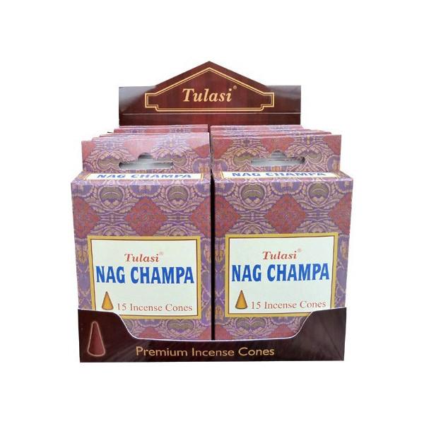 Cônes d'encens Tulasi sarathi nag champa.