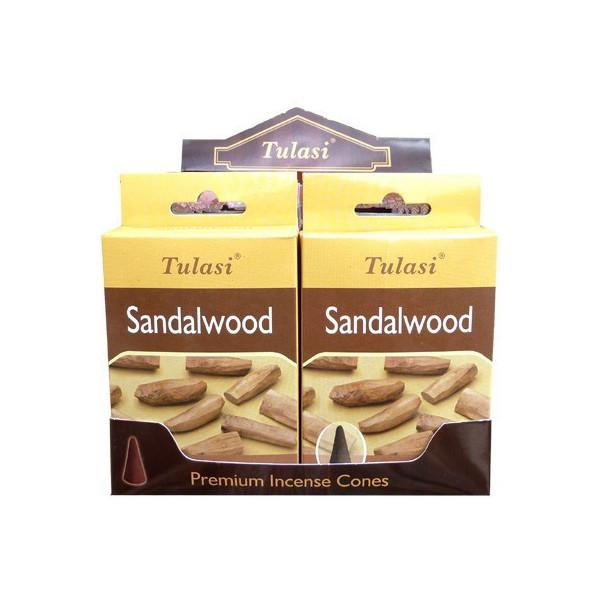 Cônes d'encens Tulasi  sandalwood.