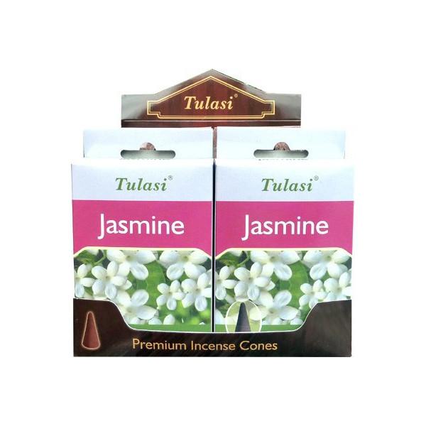 Cônes d'encens Tulasi jasmin.
