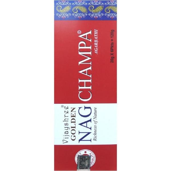 Goldener Nag Champa Hexa Weihrauch von 20 gr.