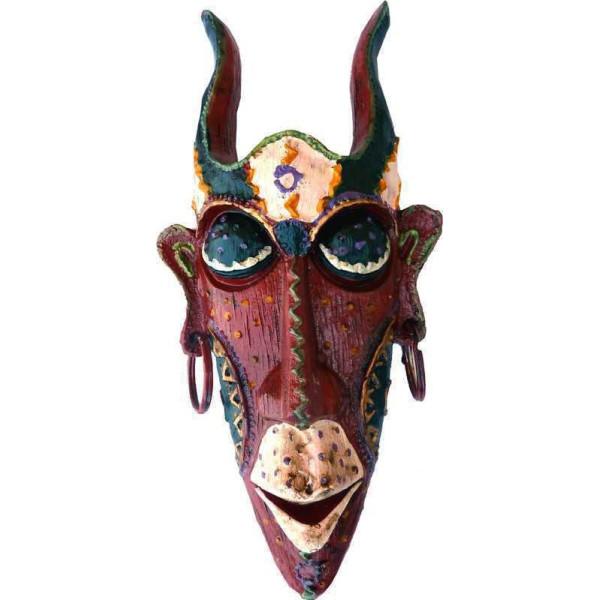 Masque décoratif rouge.