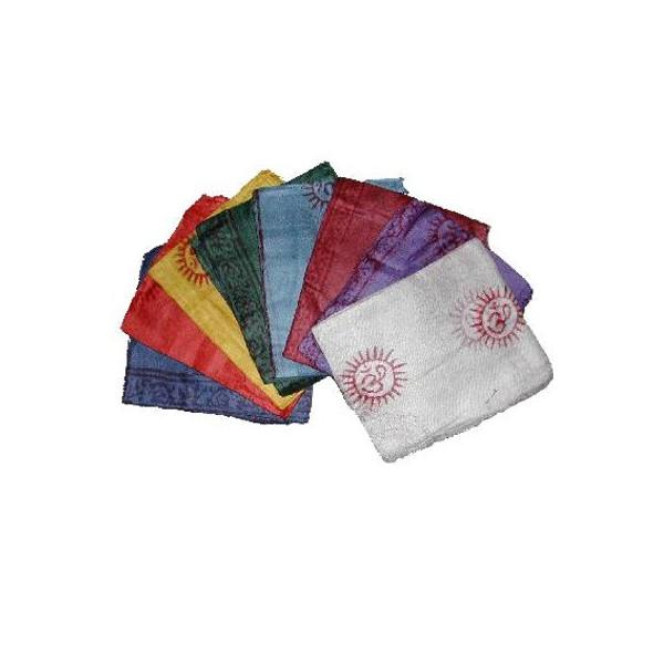 Foulard Benares en coton coloré