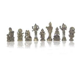 Statuette en bronze diverses divinités