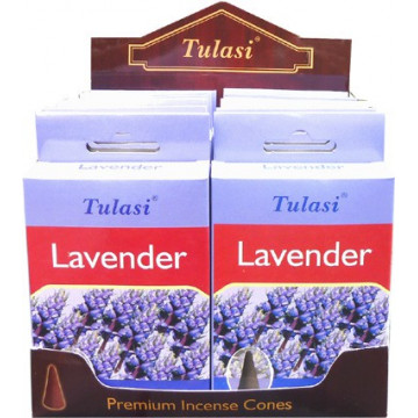 Cônes d'encens Tulasi lavande.