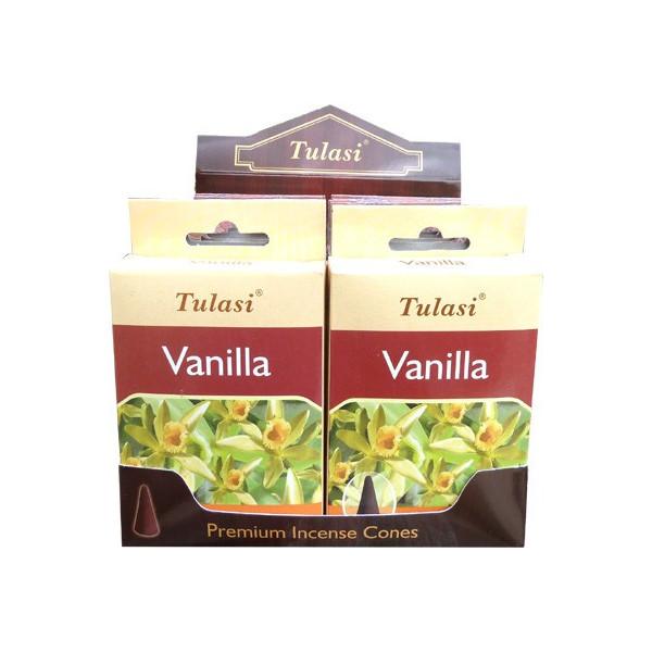 Cônes d'encens Tulasi vanille.