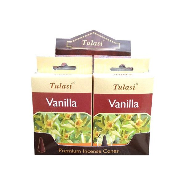 Cônes d'encens Tulasi sarathi vanille.