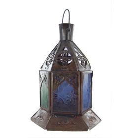 Lanterne marocaine en verre teinté