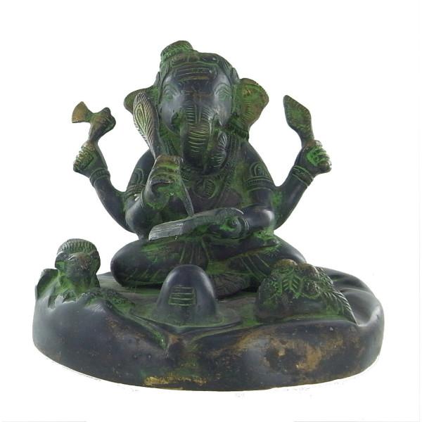 Ganesh assis en bronze