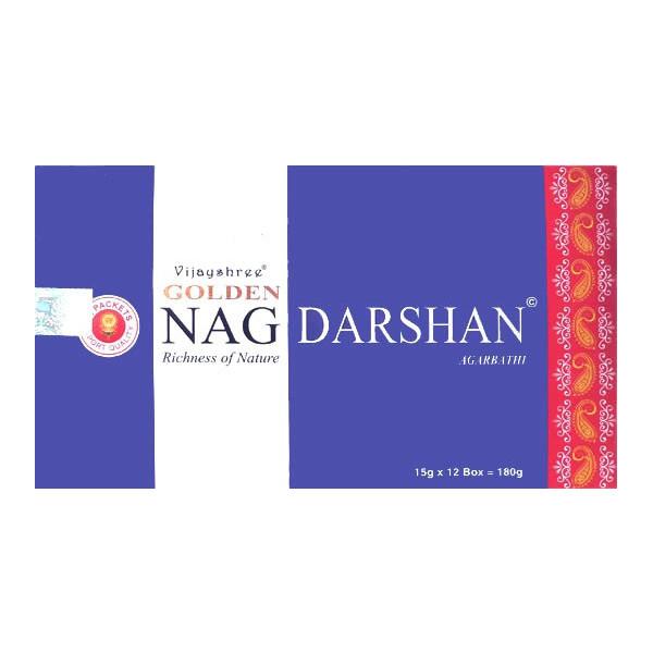 Golden nag darshan - Boite d'encens en batons