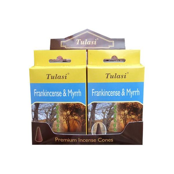 Cônes d'encens tulasi frankincense & myrrh