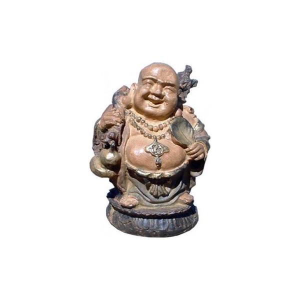 bouddha voyageur en résine