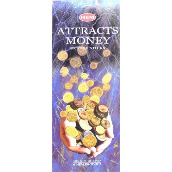 Encens hem attire l'argent hexa 20g.