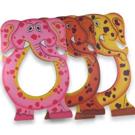 Miroir peint à la main éléphant