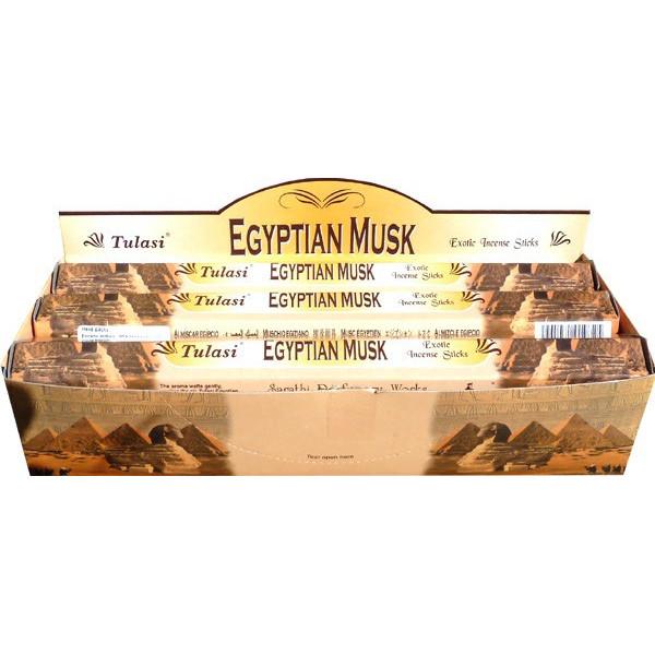 Boite d'encens tulasi egyptian musk 20gr.