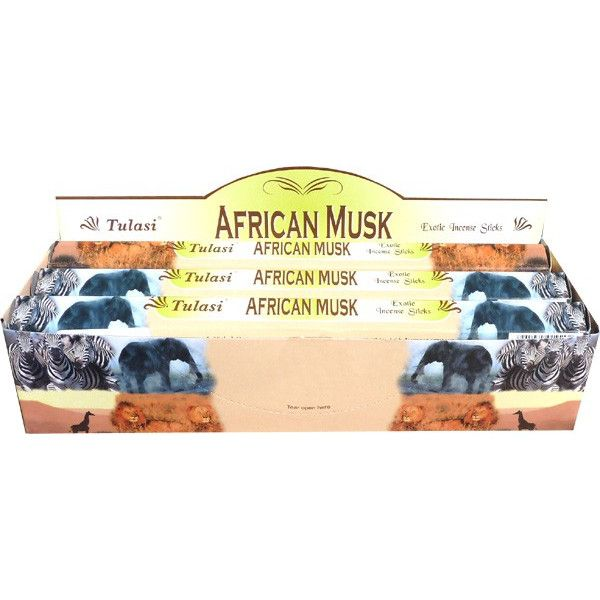 Boite d'encens tulasi african musk 20gr.
