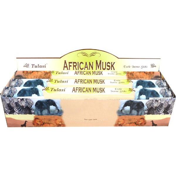 Boite d'encens tulasi african musk 20gr.