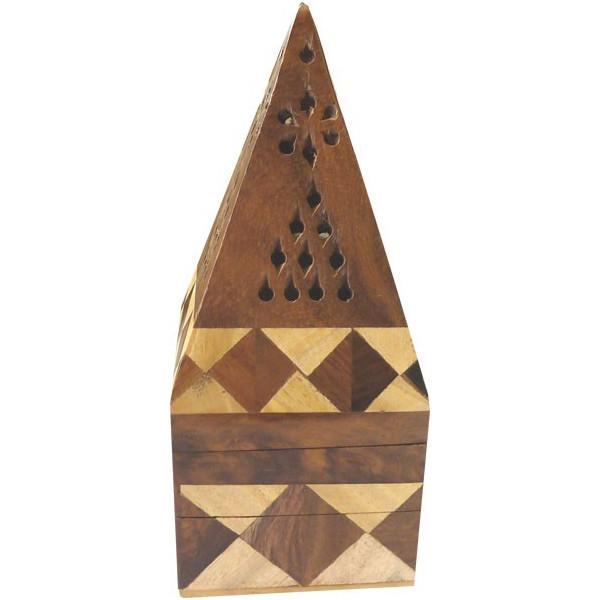Brule encens coffret pyramide marqueterie