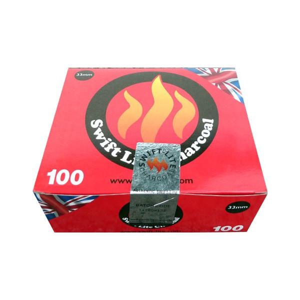 Boite de 100 charbons swift-lite