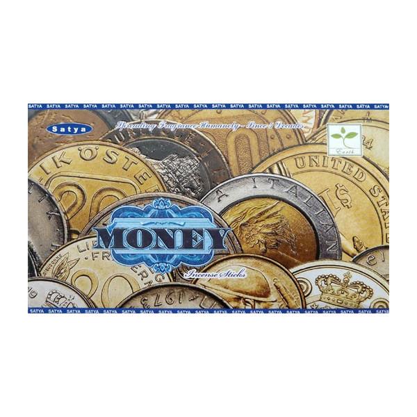 Encens bâtons satya money 15g.