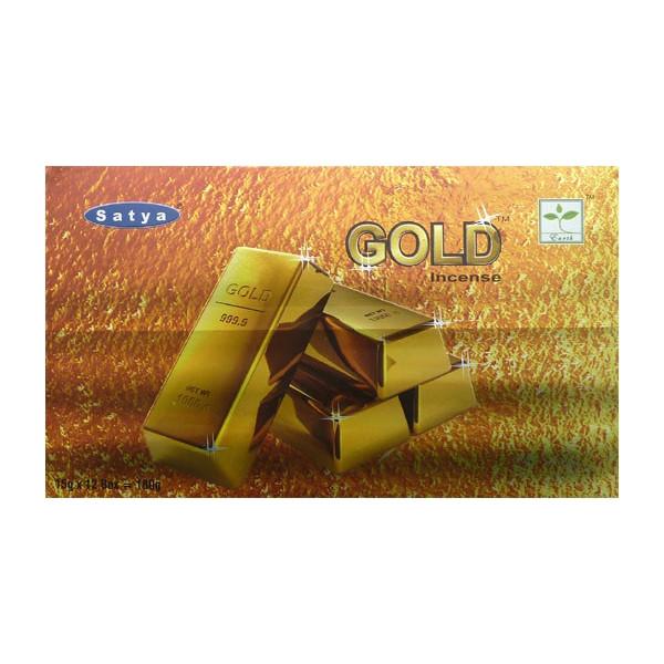 Räucherstäbchen Satya Gold 15g.