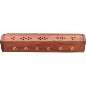 Porte encens grande boite motifs ying yang