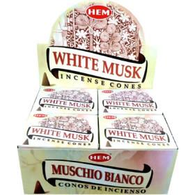 Encens cônes hem musk blanc