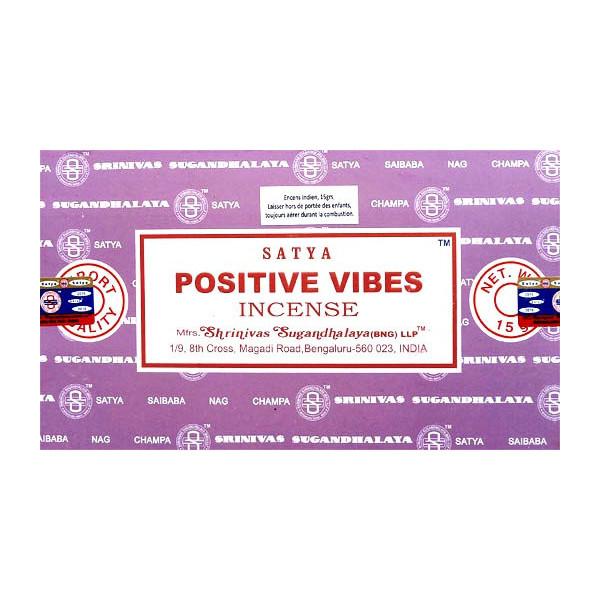 Encens batons satya positive vibes 15g.