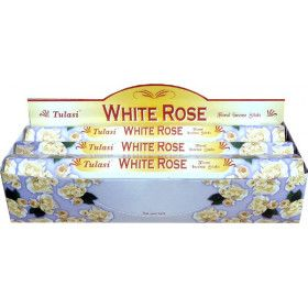Boite d'encens tulasi rose blanche 20gr.