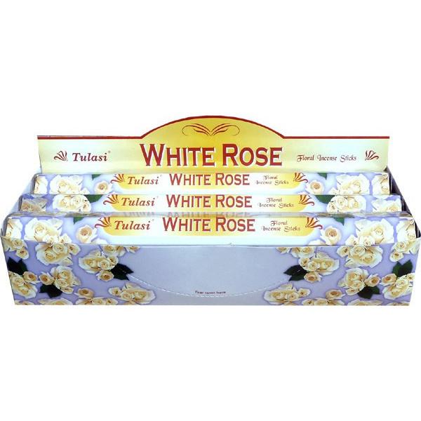 Boite d'encens tulasi rose blanche 20gr.