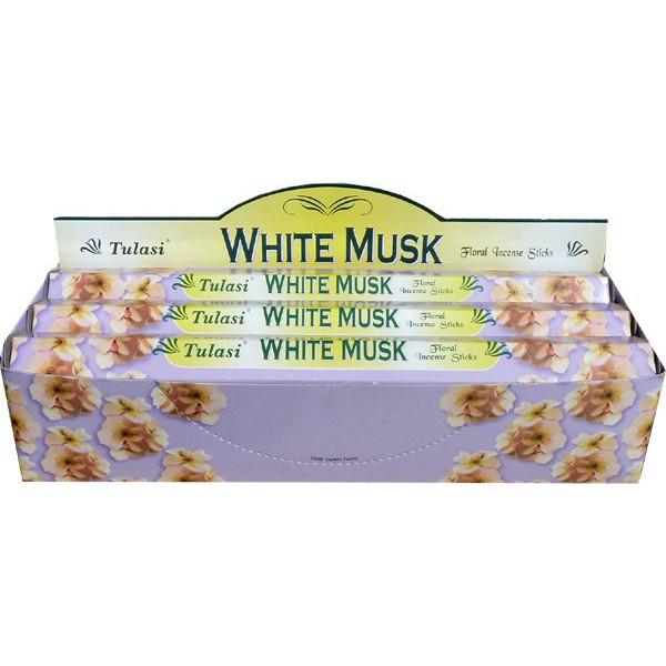 Schachtel Weihrauch Tulasi Moschus weiß 20 gr