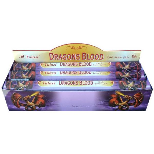 Boite d'encens tulasi sang de dragon 20gr.