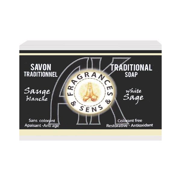 Savon sauge blanche 100 grammes.