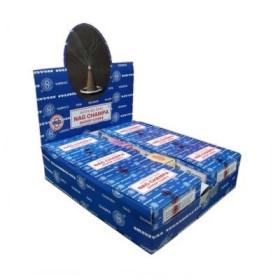 Packung mit 12 Schachteln Weihrauchkegel Satya Nag Champa