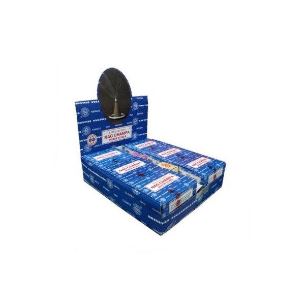 pack de 12 boites d'encens en cônes satya nag champa