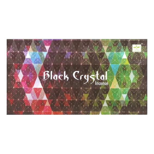 Räucherstäbchen satya schwarzer Kristall 15 g.