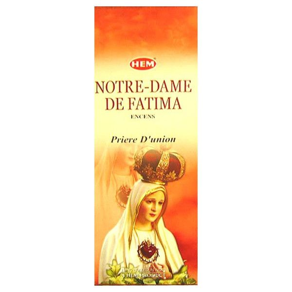 Encens hem notre dame de Fatima 20 grammes.
