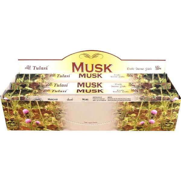 Schachtel mit weißem Tulasi-Weihrauch 20gr.