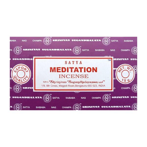 Encens bâtons satya meditation 15 g.
