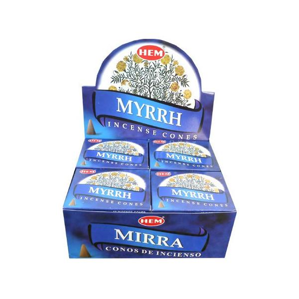 Weihrauchkegel hem Myrrhe