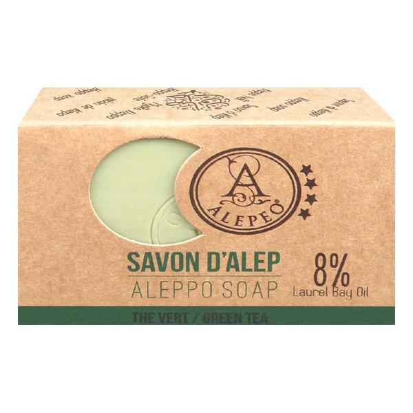 Savon d'Alep thé vert 100 gr.