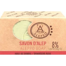 Savon d'Alep rose de Damas 100 gr.