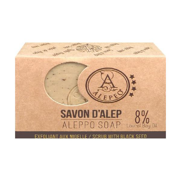 Aleppo Seife Peeling mit Nigella 100 gr.