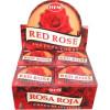 Encens cônes hem rose rouge