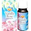 Flacon d'huile parfumée vanille rose
