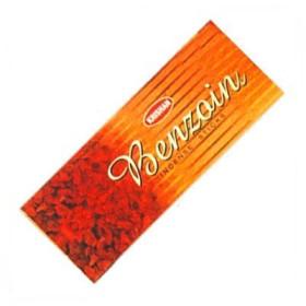 Packung mit 25 Schachteln Räucherstäbchen Krishan Benzoin