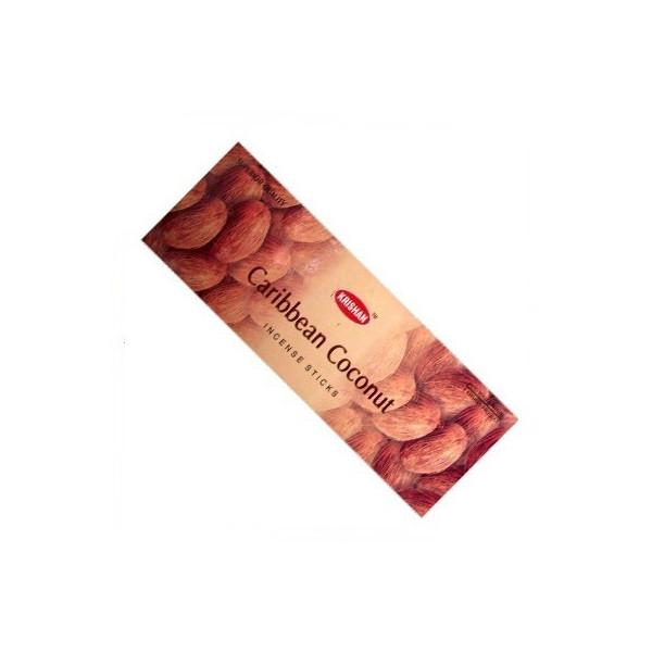 Pack de 25 boites d'encens  batons krishan noix de coco